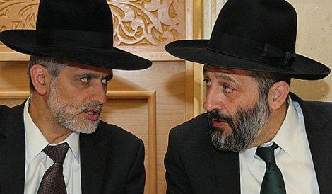 Eli Yishay (left) and Arie Deri (right). Source: kikarhashabat.co.il